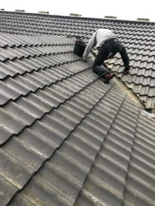 Pitched Roof with roofers Salisbury